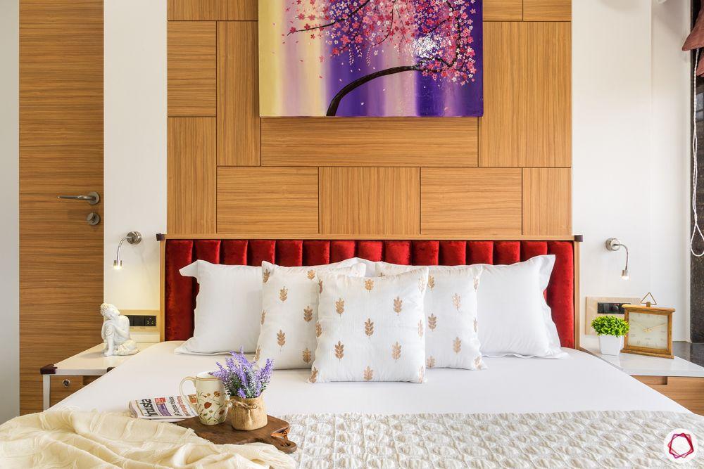red headboard designs-wooden panel designs