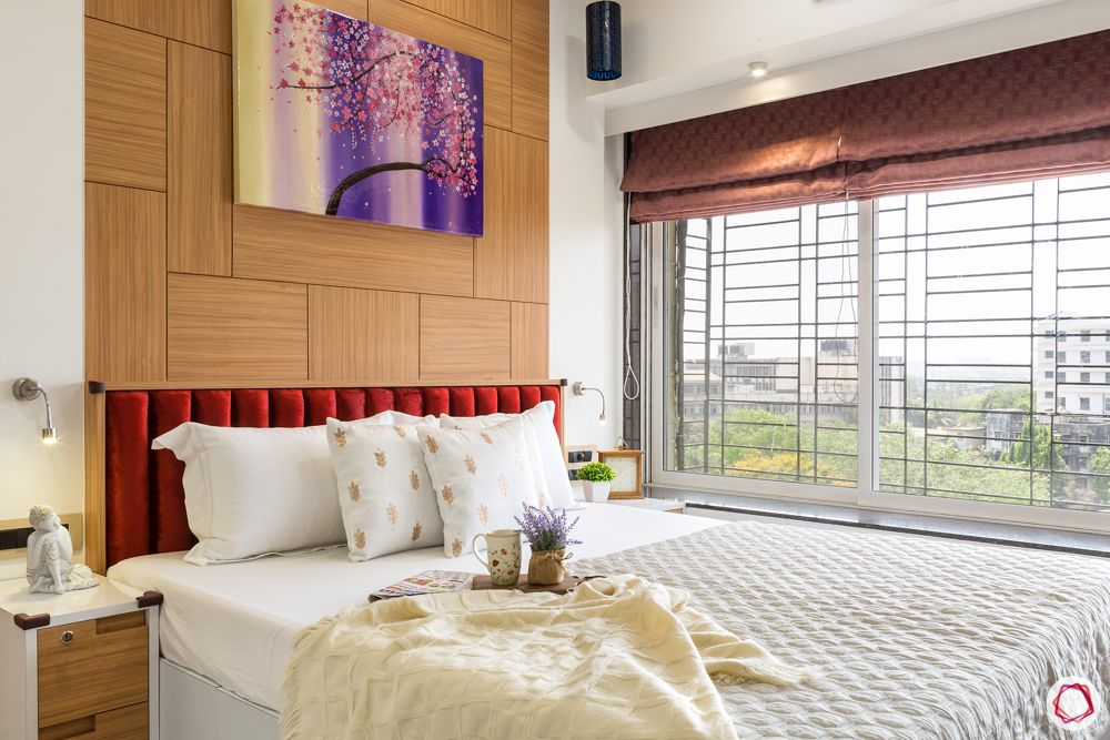 red headboard designs-wall-to-wall window designs