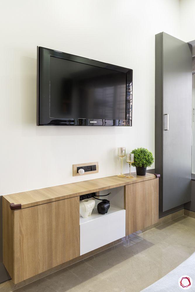 simple tv unit designs-grey door designs