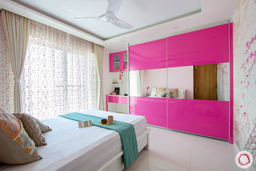 snn-raj-grandeur-girls bedroom-pink wardrobe