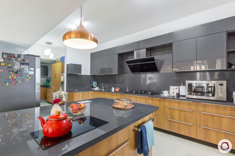 new kitchen on a budget-grey kalinga stone countertop