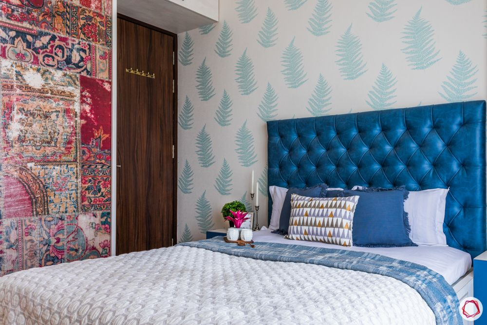 bedroom makeover ideas on a budget-feature wall-wallpaper