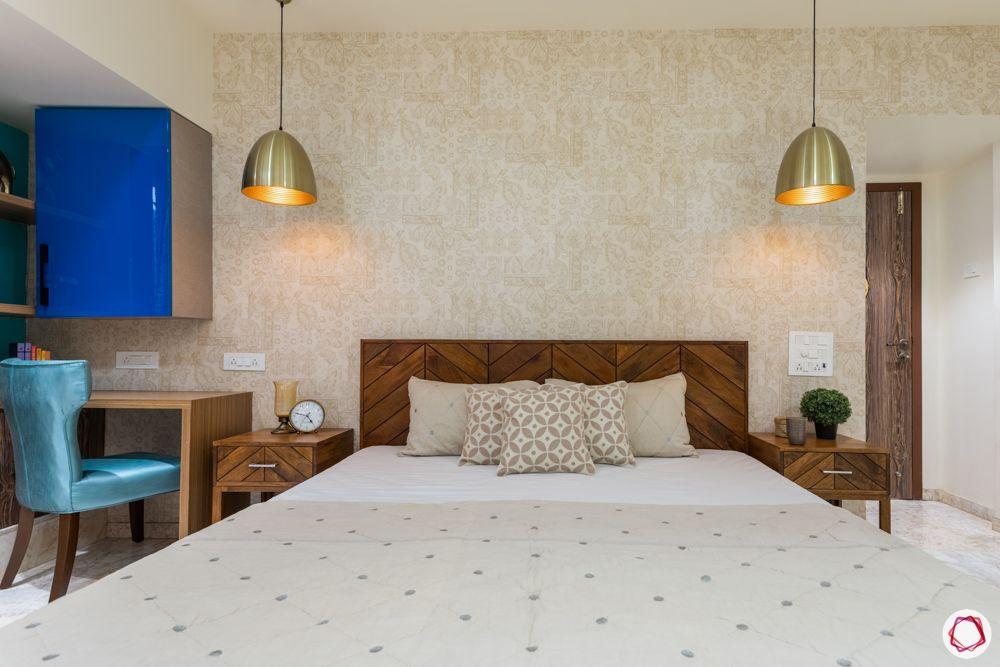 bedroom makeover ideas on a budget-pendant lights-bedside lights