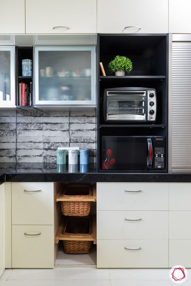 house kitchen design-customised wicker basket-open unit-frosted glass