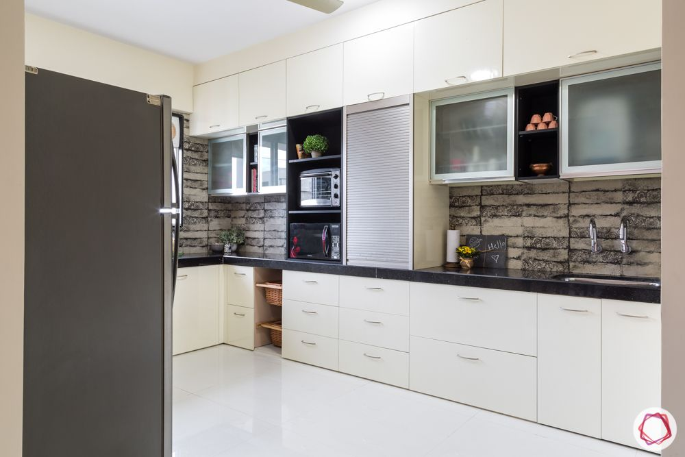 house kitchen design-champagne base cabinet-frosted glass cabinet-profile shutter