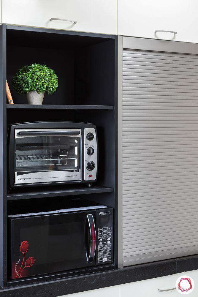 modern kitchen design-open unit-tambol unit-profile shutter