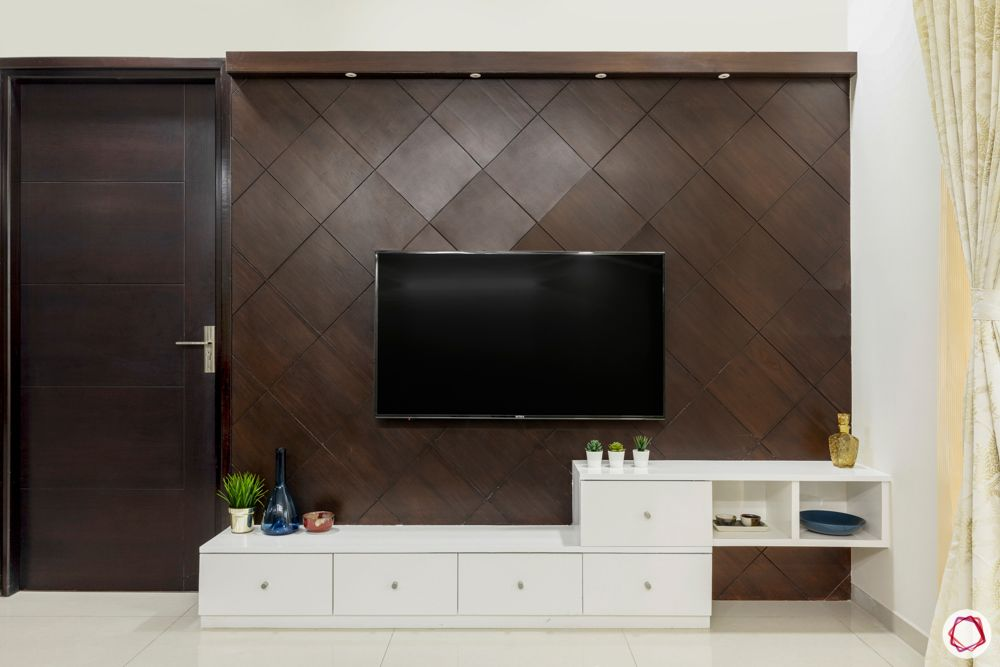 tv unit designs-veneer panel designs