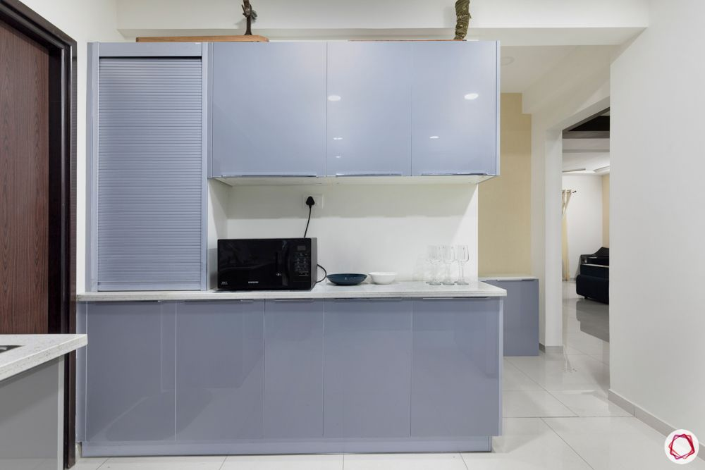 acrylic kitchen cabinets-grey acrylic finish