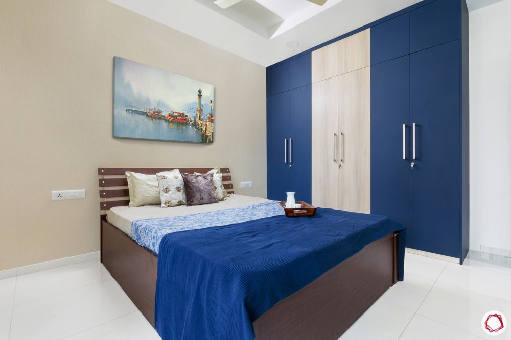 rajapushpa atria-blue wardrobe designs