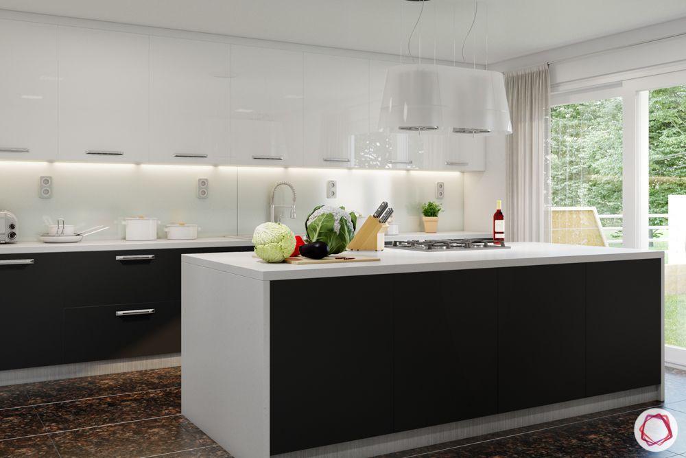granite-flooring-island-kitchen-white-black