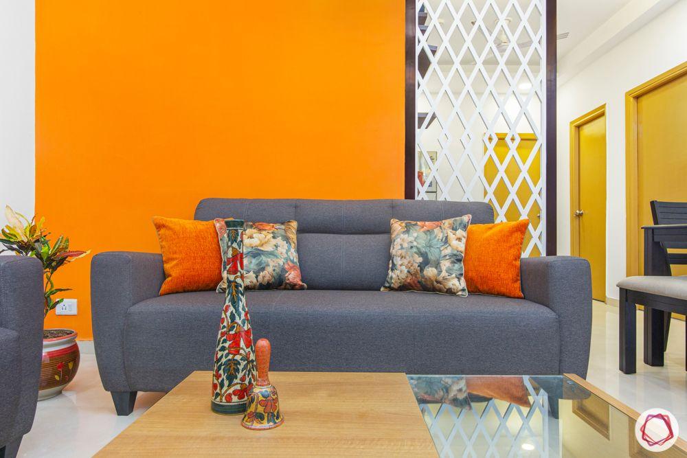 mahagun mywoods-livspace noida-living room-jaali partition
