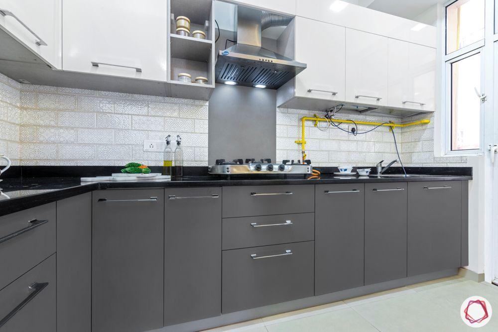 mahagun mywoods-livspace noida-modular kitchen-grey kitchen