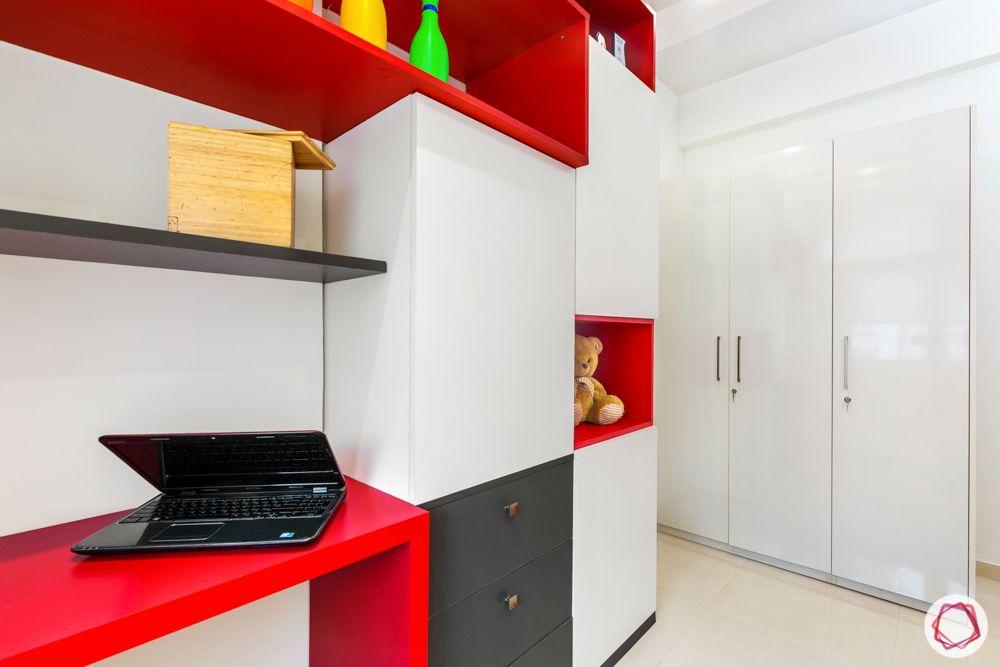 mahagun mywoods-livspace noida-kids bedroom-laminate wardrobes