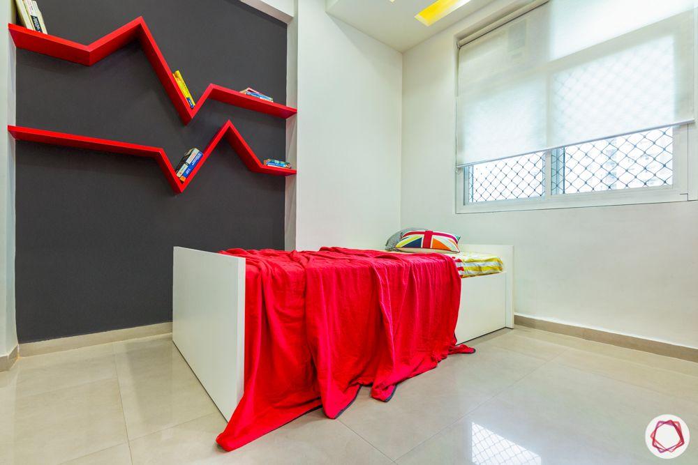 mahagun mywoods-livspace noida-kids bedroom-bed-display shelves