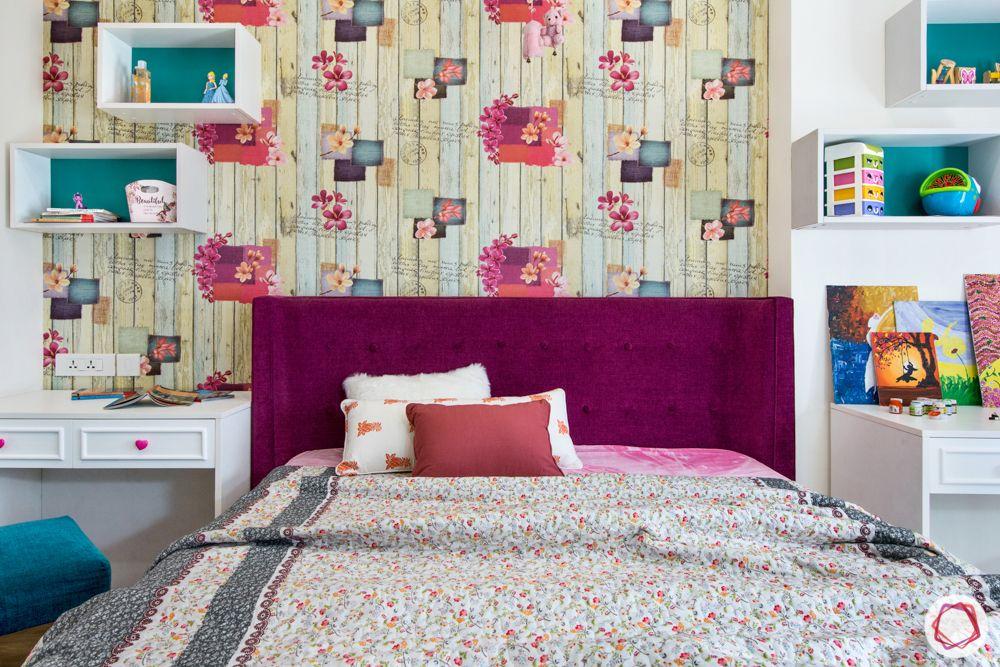 pioneer presidia-pink headboard-floral wallpaper