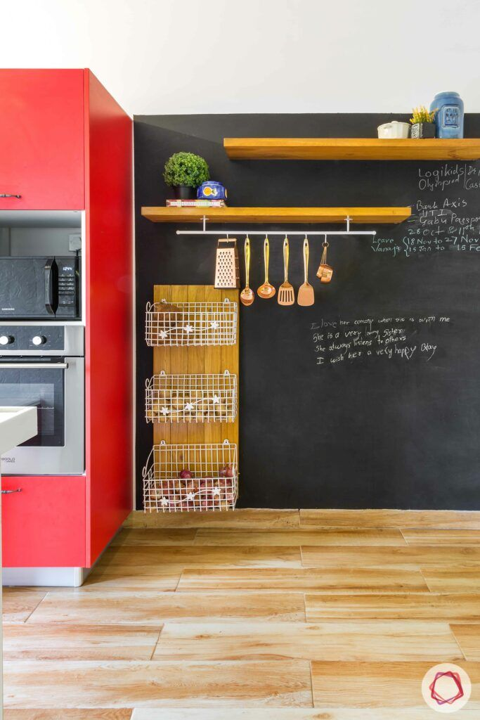 vertical storage ideas for small spaces-racks-ledges-pegboard-trays-kitchen