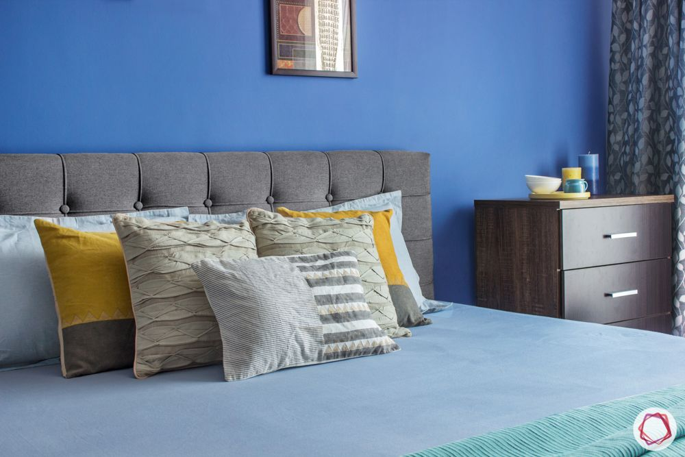 interior design bangalore-3-bhk-in-bangalore-bedroom-blue walls