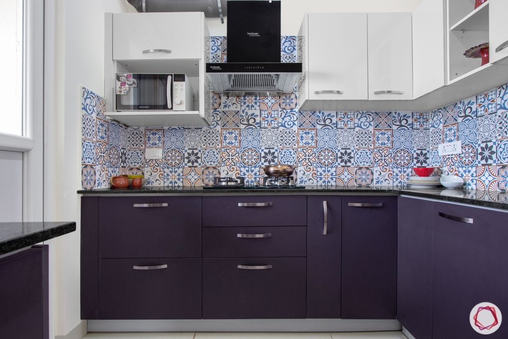 interior design bangalore-3-bhk-in-bangalore-kitchen-blue cabinets