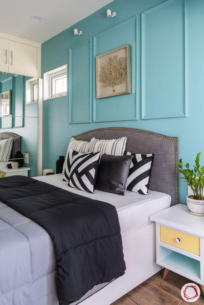Interiors-in-Mumbai-bedroom-blue-sliding-wardrobe