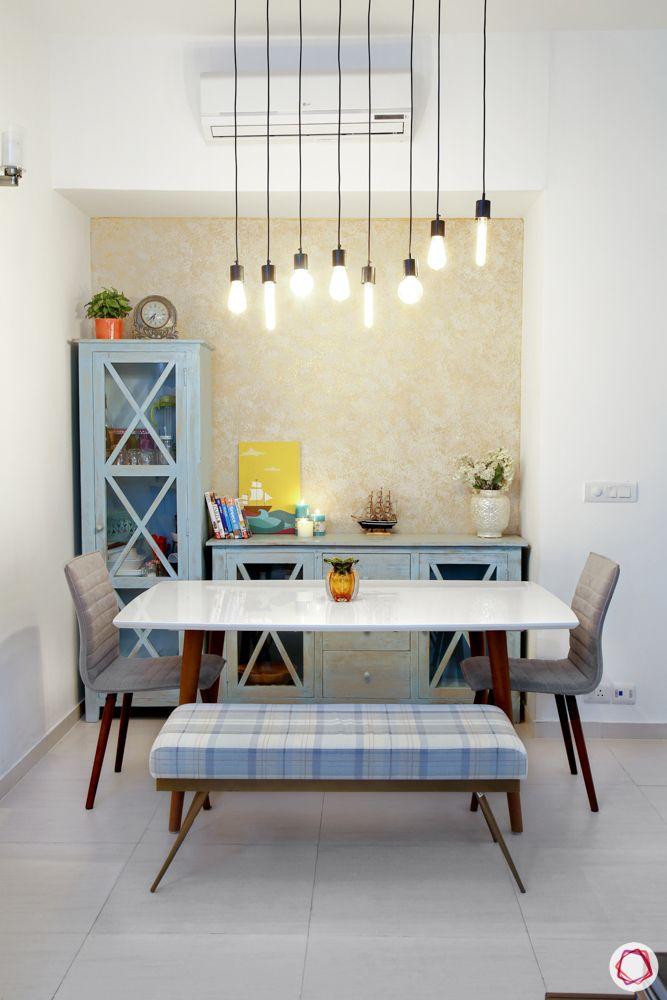industrial light designs-blue cabinet designs-blue bench designs