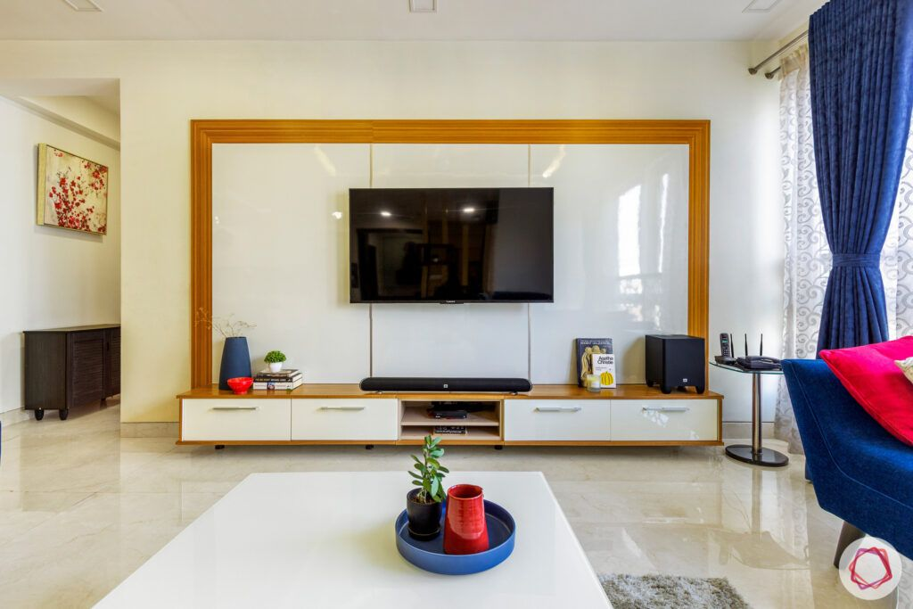 white tv unit designs-wooden frame designs