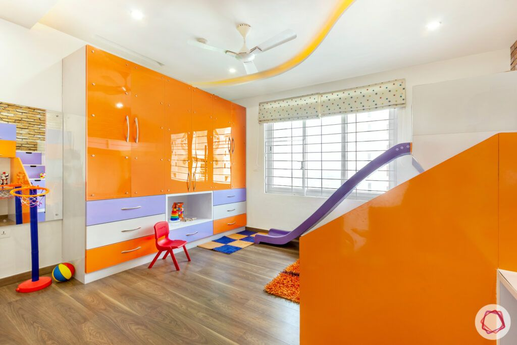 kids furniture designs-orange wardrobe designs