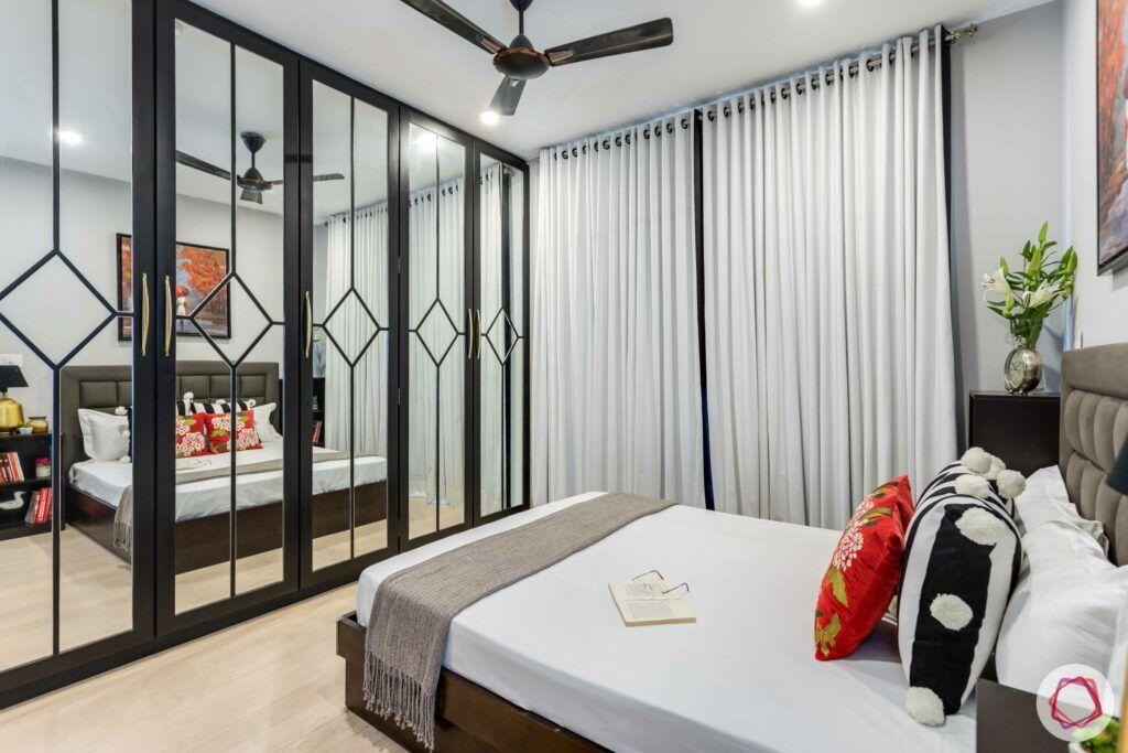wardrobe shutters-modern wardrobe-mirror panels-mirror wardrobe