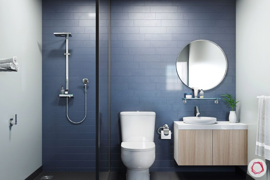 bathroom-colors-blue-grey-brick-tiles-mirror-vanity-storage
