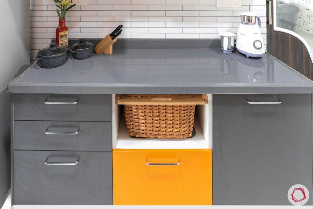 livspace mumbai-3-bhk-in-mumbai-kitchen-quartz countertop-wicker basket