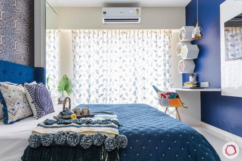 livspace mumbai-3-bhk-in-mumbai-master bedroom-window-white curtains