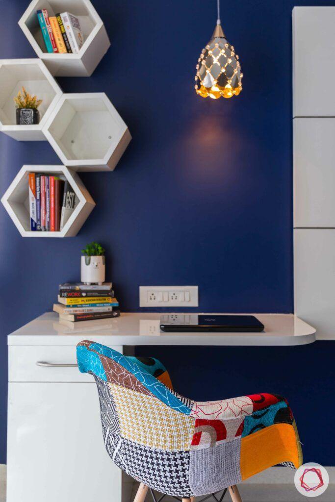 livspace mumbai-3-bhk-in-mumbai-master bedroom-laminate study corner
