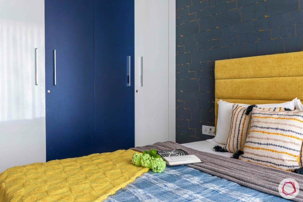 livspace mumbai-3-bhk-in-mumbai-kids bedroom-yellow headboard