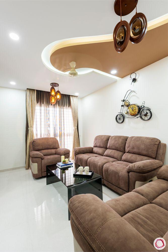 brown false ceiling designs-brown sofa designs