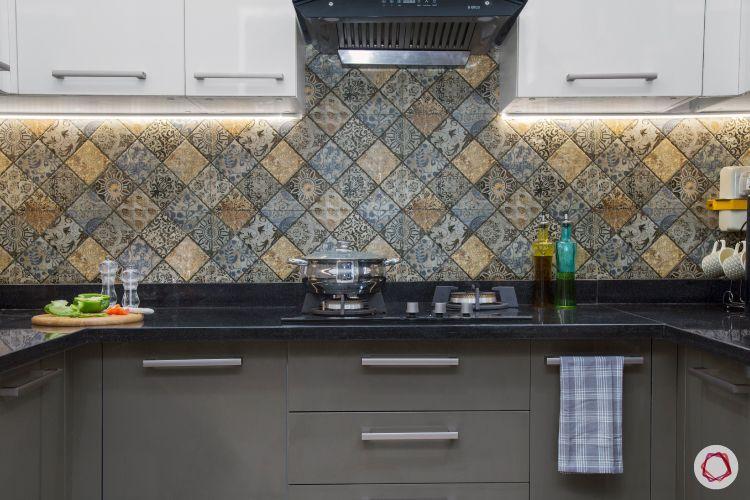 how to design your kitchen on a budget-tiled backsplash-kitchen cabinets
