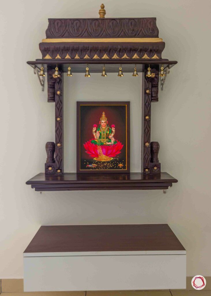 types of wood-pooja unit-rosewood-wall mount
