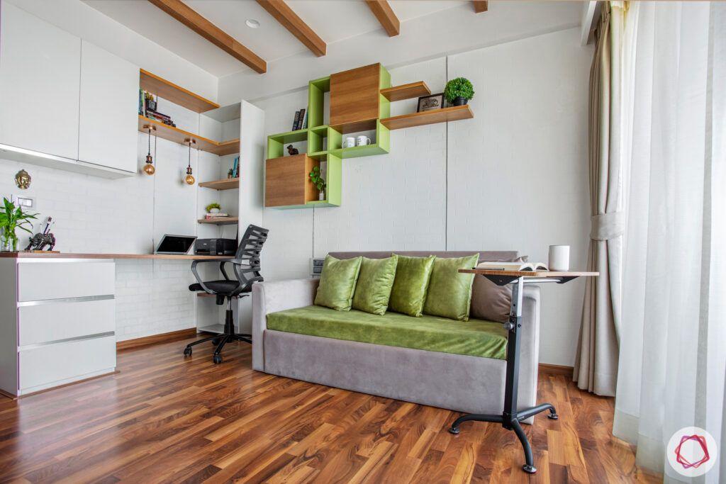 study-sofa-cum-bed-rafters-wooden-floor