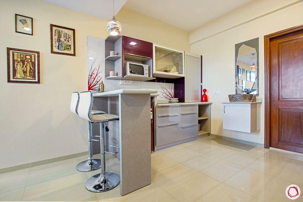 bangalore home-dry kitchen designs-purple kitchen cabinets