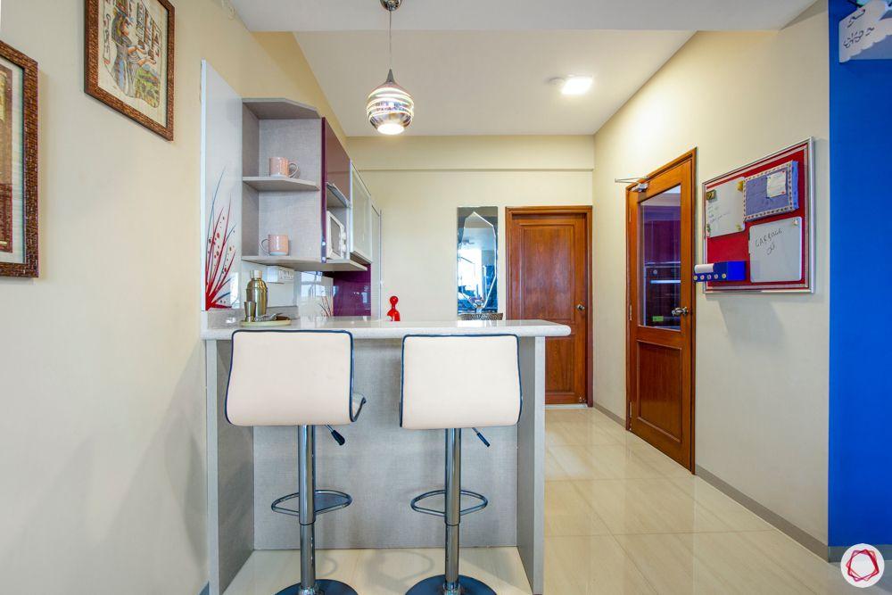 dry kitchen designs-breakfast counter designs