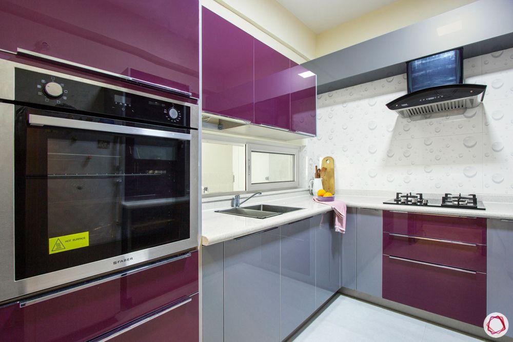 grey kitchen designs-purple kitchen cabinets