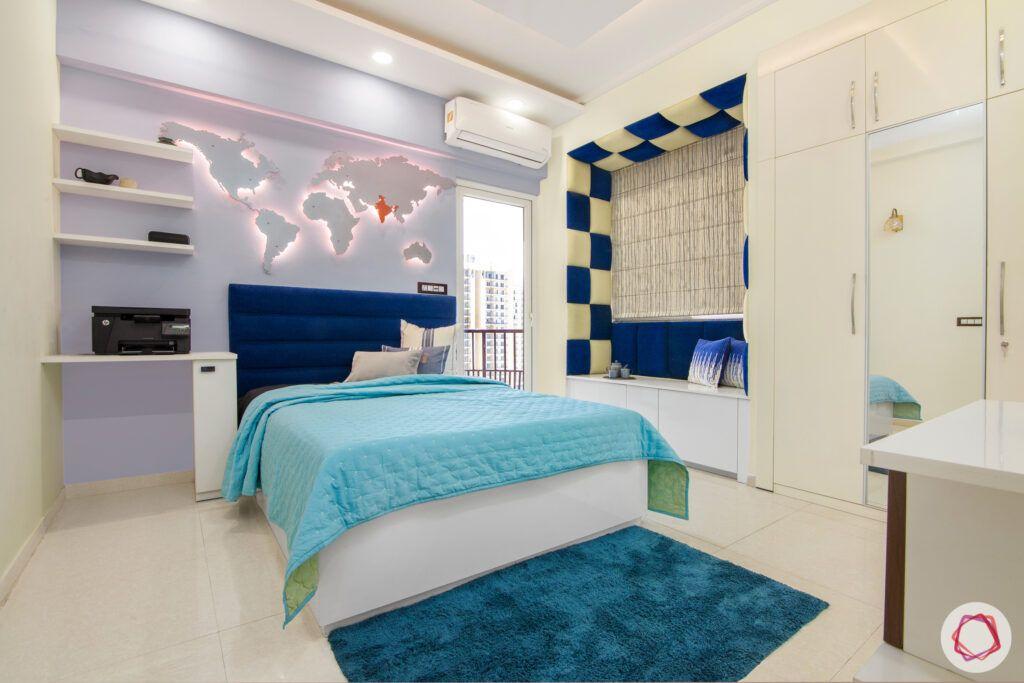 bedroom sofa-bedroom niche-blue niche seating