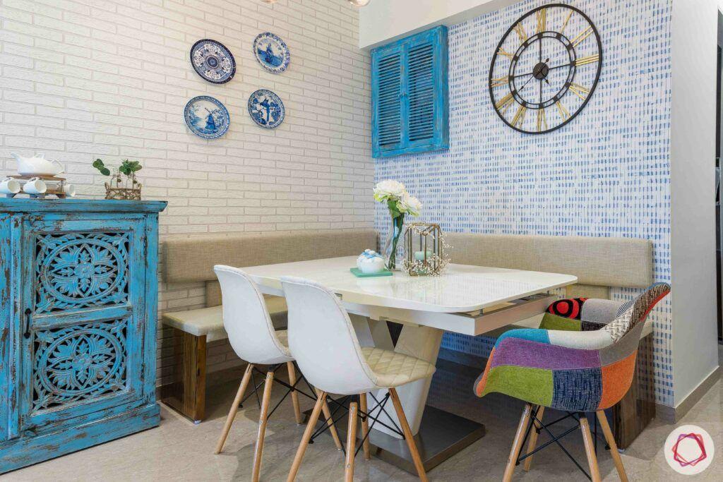 jp decks-dining table-pendant light-wall clock