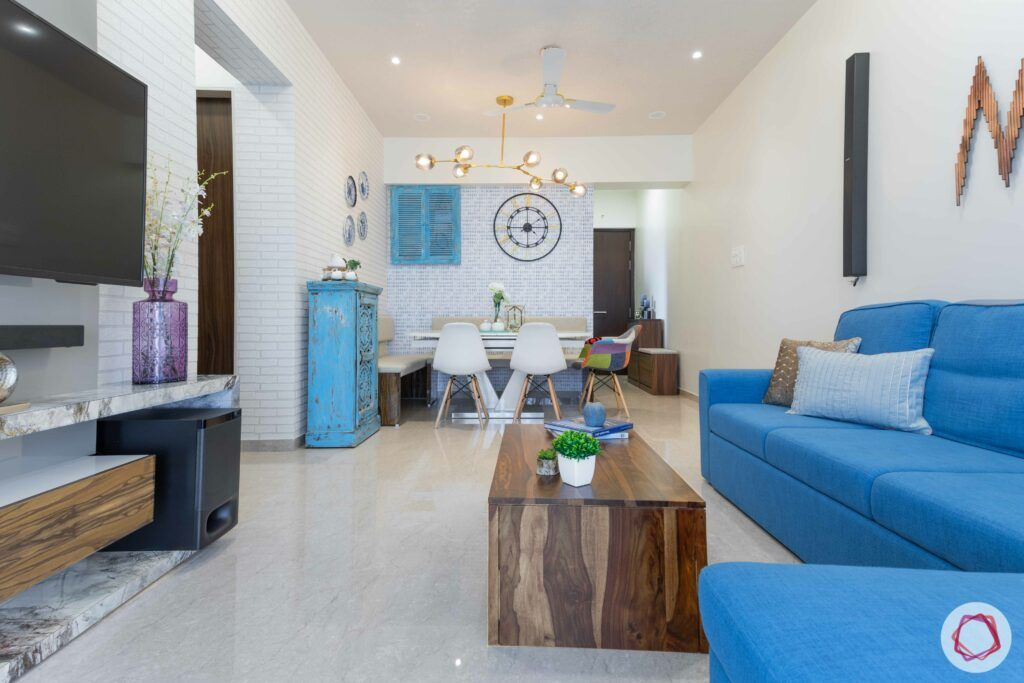 jp decks-coffee table-TV-unit-blue sofa