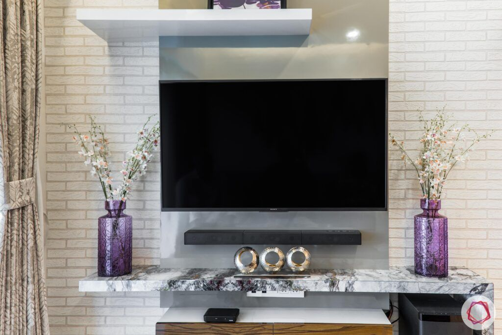 jp decks-tv-unit-brick wall wallpaper-purple vase