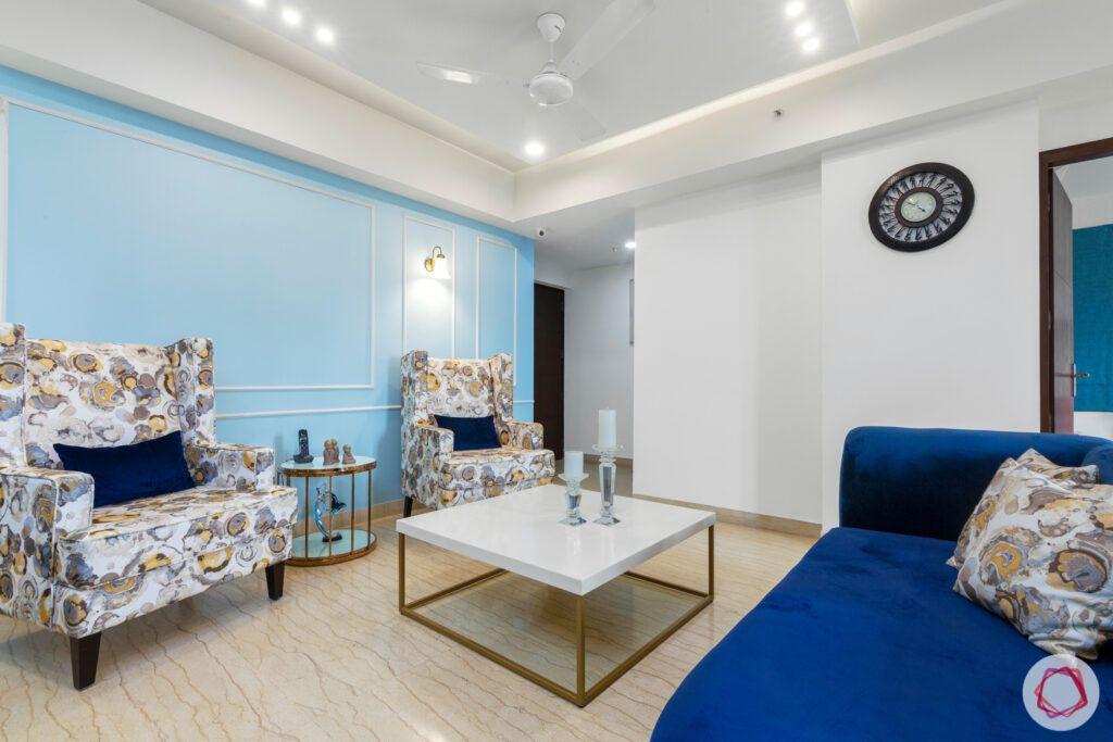 blue wall ideas-blue recliner designs