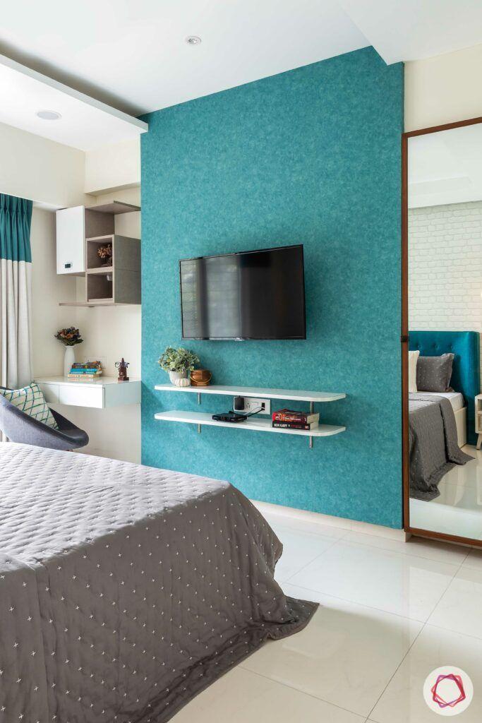 apartment interior design-master bedroom-tv unit