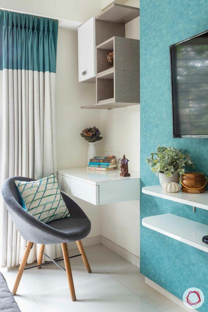 apartment interior design-master bedroom-study table