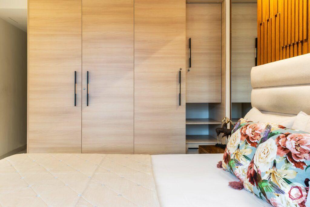 apartment interior design-parents bedroom-laminate wardrobe