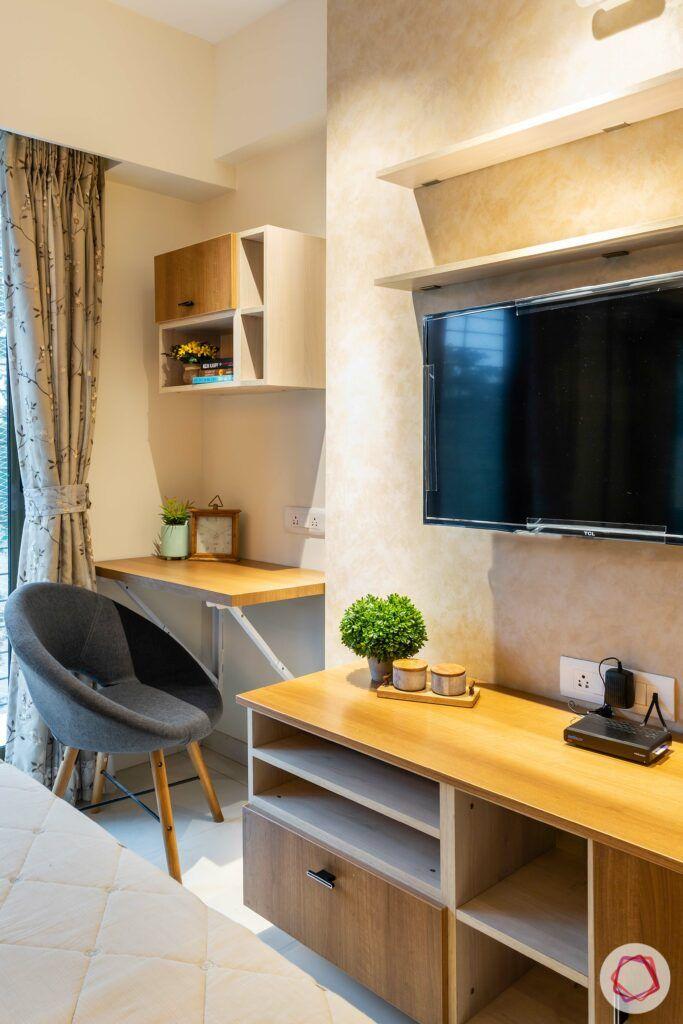apartment interior design-parents bedroom-study table