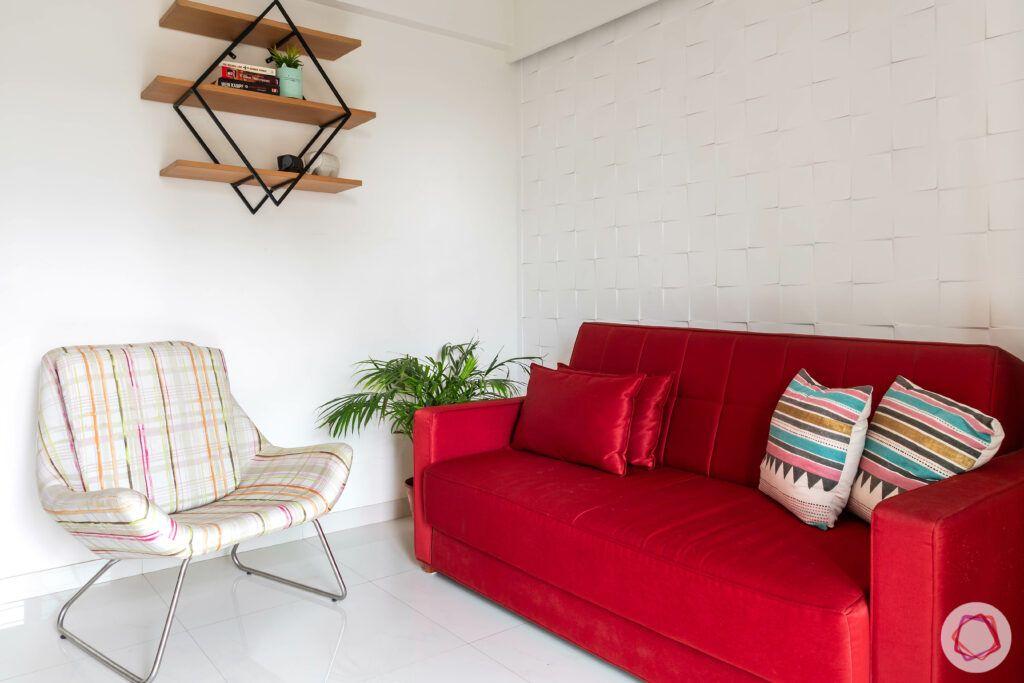 apartment interior design-entertainment room-3d mdf panel-display shelf