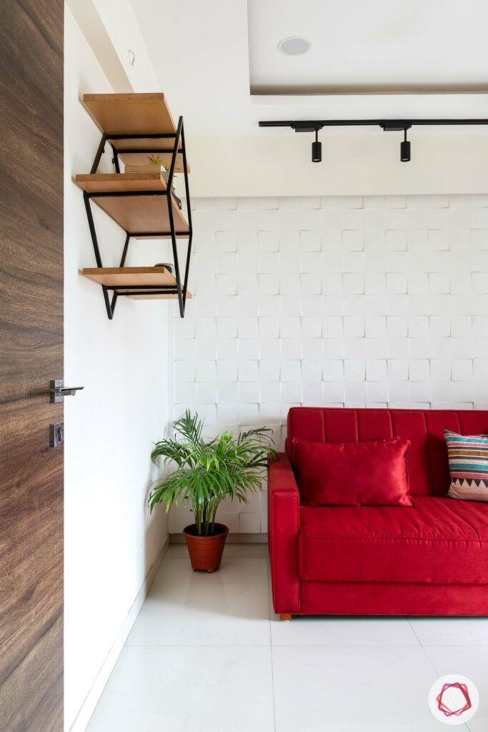 apartment interior design-entertainment room-track lights